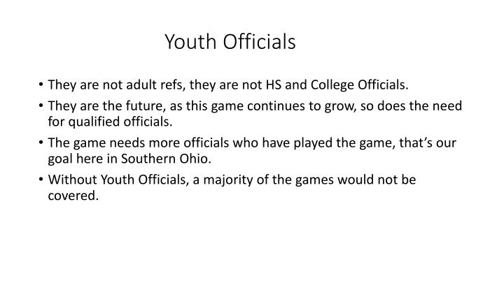 Youth Officials