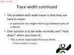 trace width continued