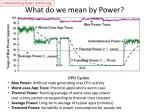 what do we mean by power