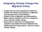 integrating climate change into migration policy