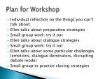 plan for workshop