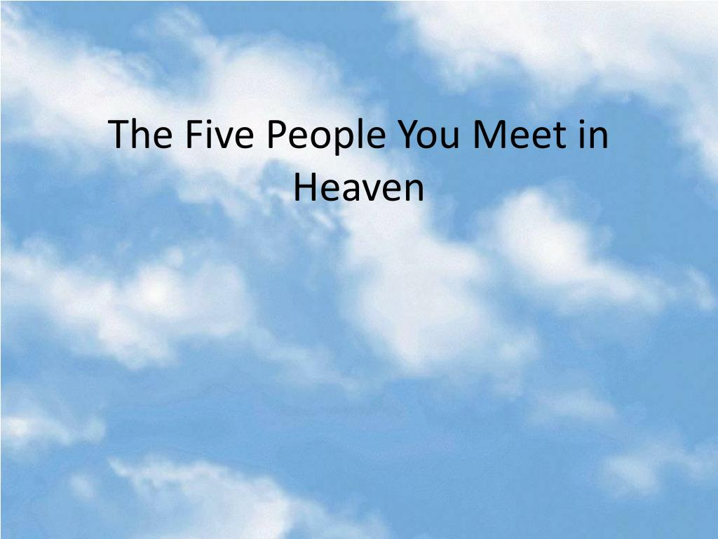 the five people you meet in heaven marguerite