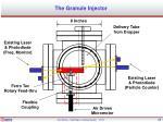 the granule injector