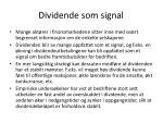 dividende som signal