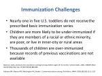 immunization challenges