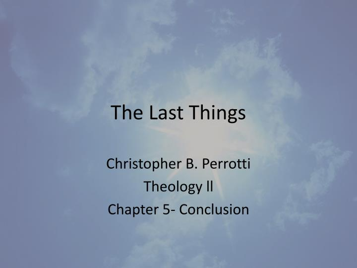 the last things n.