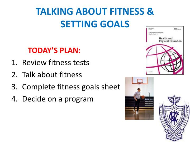 talking about fitness setting goals n.