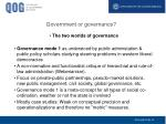 government or governance