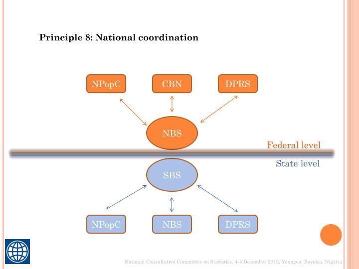 Principle 8: National coordination