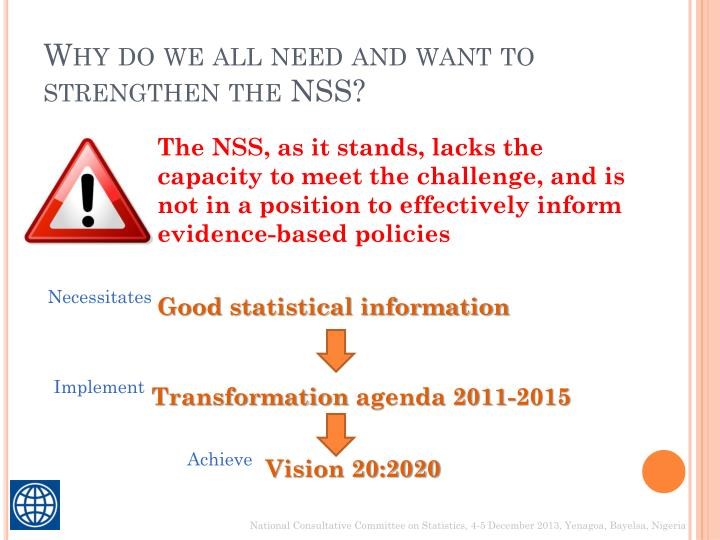 Why do we all need and want to strengthen the nss