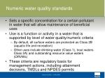 numeric water quality standards