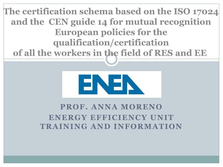 prof anna moreno energy efficiency unit training and information n.