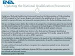 updating the national qualification framework