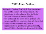g322 exam outline