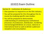 g322 exam outline1