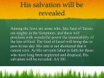 his salvation will be revealed