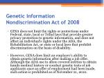 genetic information nondiscrimination act of 20082