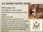 u s district courts judges