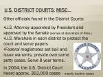 u s district courts misc