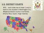 u s district courts