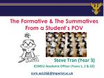 the formative the summatives from a student s pov