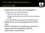 the role of probability in psychology