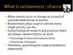 what is randomness chance