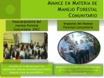 avance en materia de manejo forestal comunitario1
