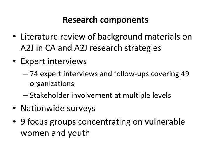 Research components