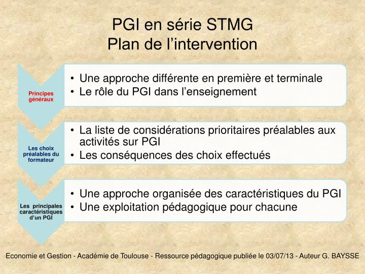 pgi en s rie stmg plan de l intervention n.