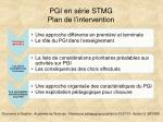 pgi en s rie stmg plan de l intervention