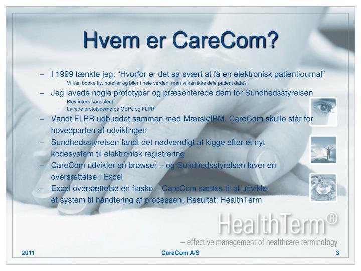 Hvem er carecom