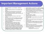 important management actions1