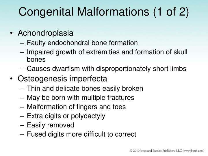 Congenital Malformations (1 of 2)
