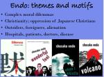 endo themes and motifs