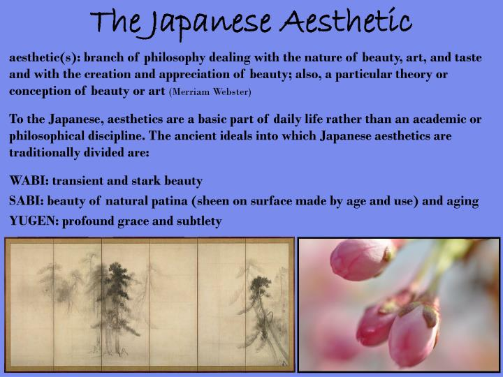 The japanese aesthetic