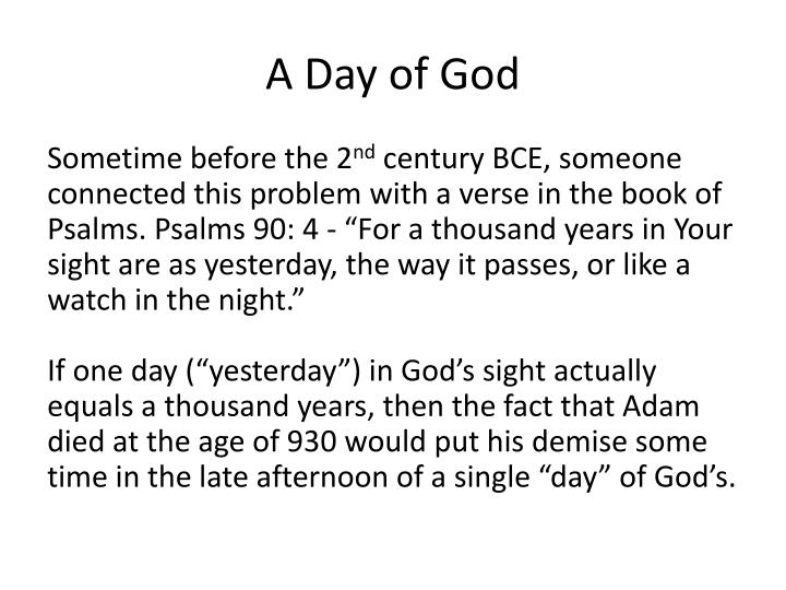 A day of god