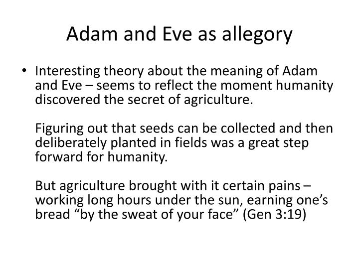 Adam and Eve as allegory