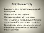brainstorm activity