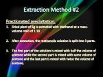 extraction method 2