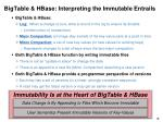 bigtable hbase interpreting the immutable entrails