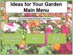 ideas for your garden main menu