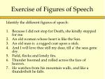 exercise of figures of speech
