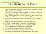 questions on the poem