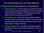 fire proceedeth out of their mouth1