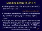 standing before efei