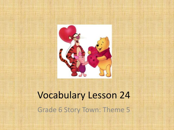 vocabulary lesson 24 n.