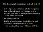 the blessing of submission to god 3 8 122
