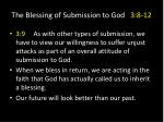 the blessing of submission to god 3 8 123