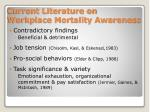 current literature on workplace mortality awareness